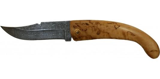 Couteau de Berger Traditionnel en Genévrier et Lame Damas