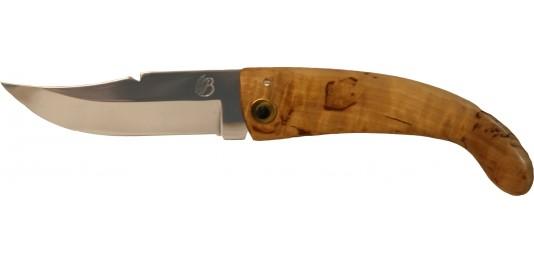 Couteau de Berger Traditionnel en Bouleau et Lame Oxydable