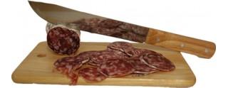 Planchette à Saucisson & Son Couteau de Découpe
