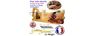 Guillotine à Saucisson Traditionnelle SECURITE PROTEGE DOIGT Lame de Rechange Offerte
